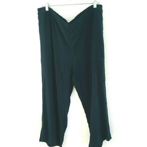 J.Jill Solid Black Pull On Crop Pants XL
